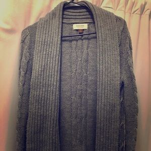 Sonoma Gray Cable Knit cardigan-Small